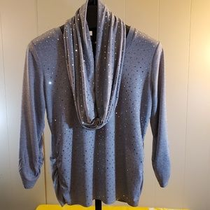 NY Collection Sweater Top w Scarf